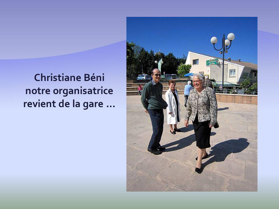 Christiane Béni notre organisatrice