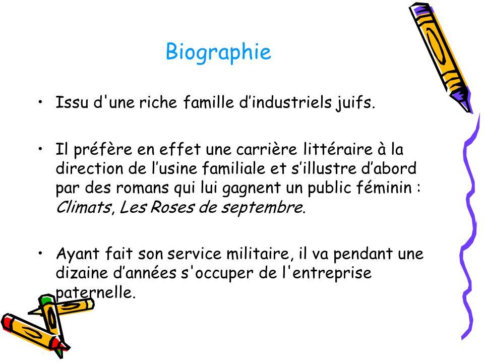 Biographie Issu d une riche famille d'industriels juifs.