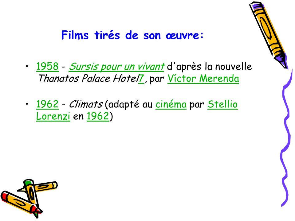 Films tirés de son œuvre: