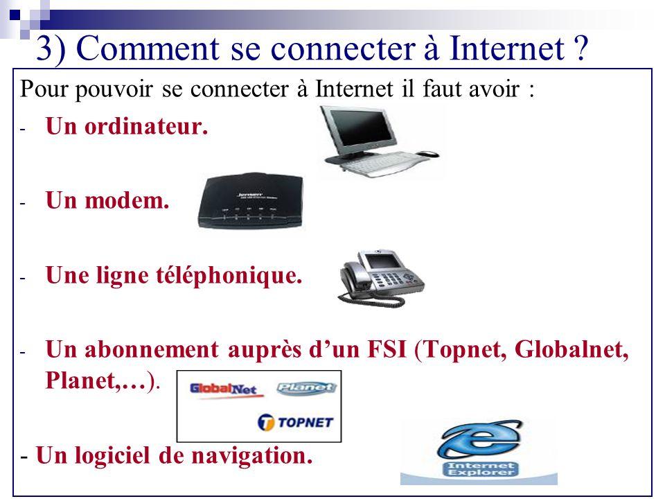 3) Comment se connecter à Internet