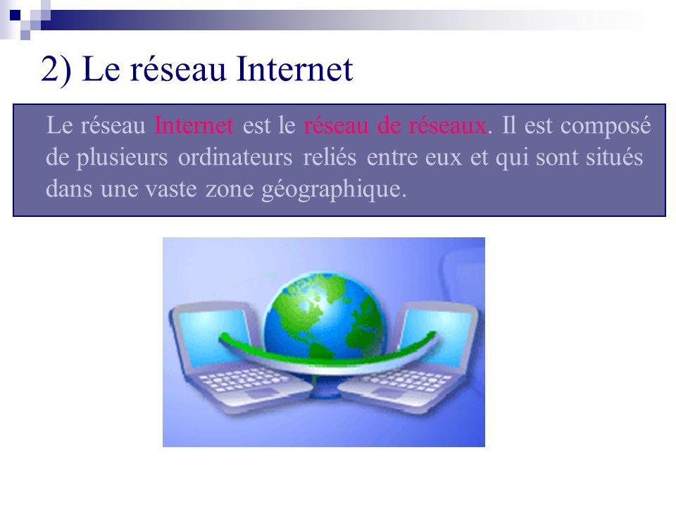 2) Le réseau Internet