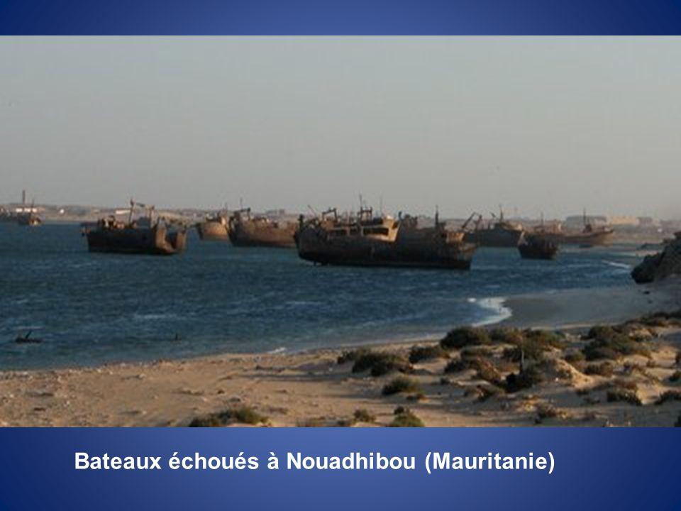 Bateaux échoués à Nouadhibou (Mauritanie)