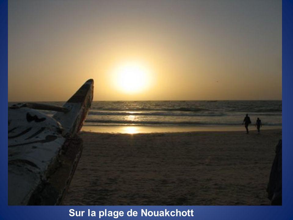 Sur la plage de Nouakchott