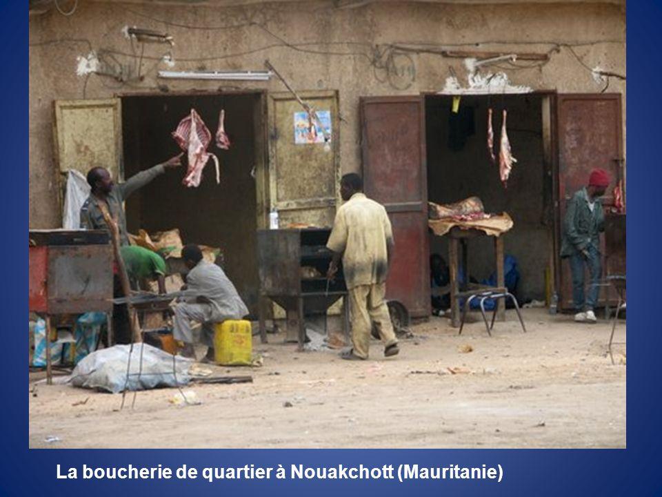 La boucherie de quartier à Nouakchott (Mauritanie)