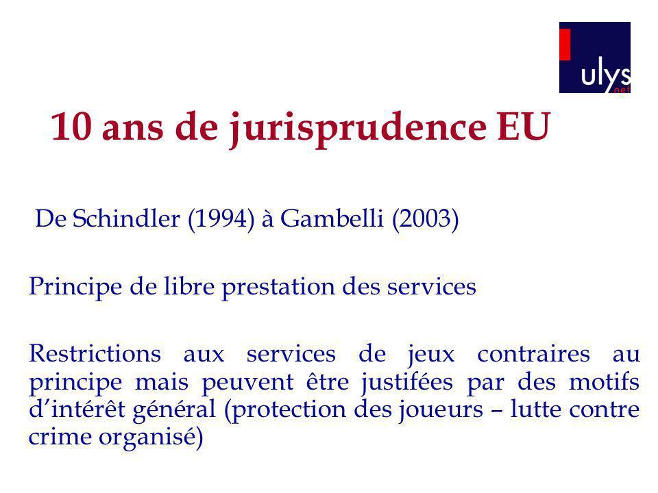 10 ans de jurisprudence EU
