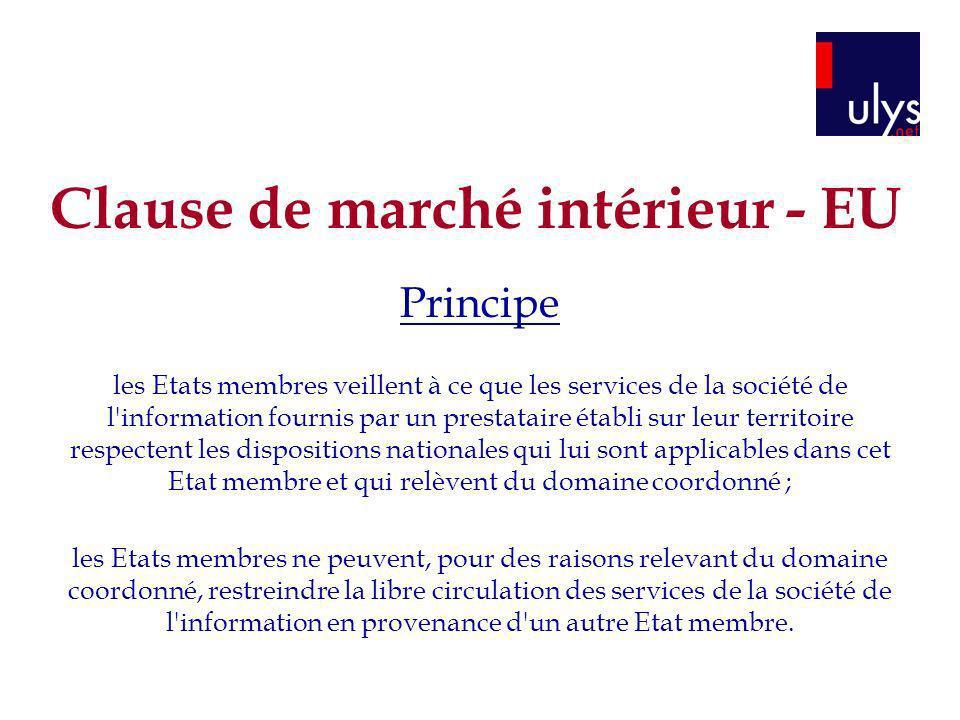 Clause de marché intérieur - EU
