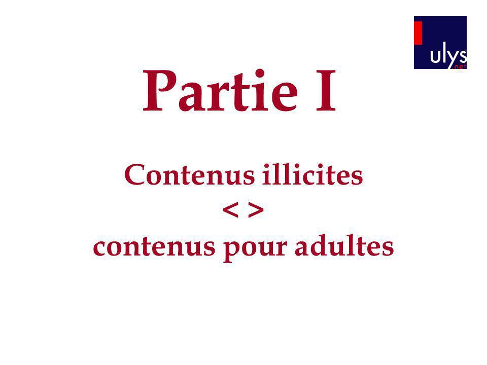 Contenus illicites < > contenus pour adultes