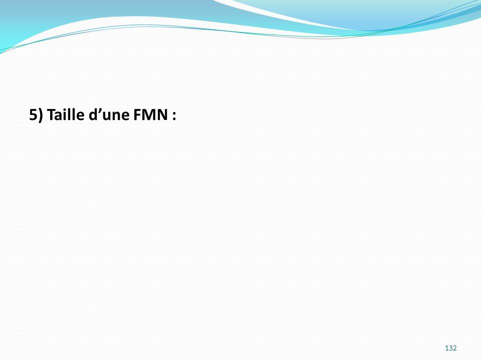 5) Taille d'une FMN :