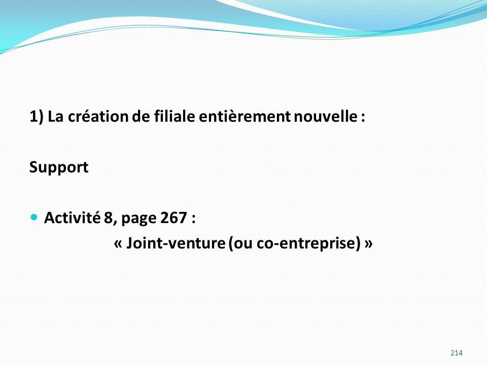 « Joint-venture (ou co-entreprise) »