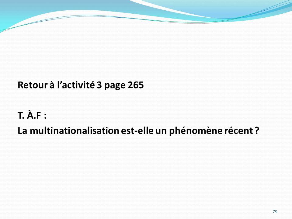 Retour à l'activité 3 page 265 T. À