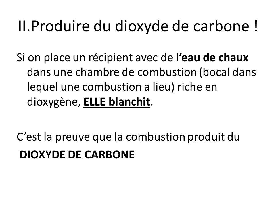 II.Produire du dioxyde de carbone !
