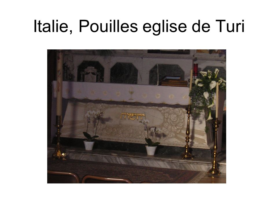 Italie, Pouilles eglise de Turi