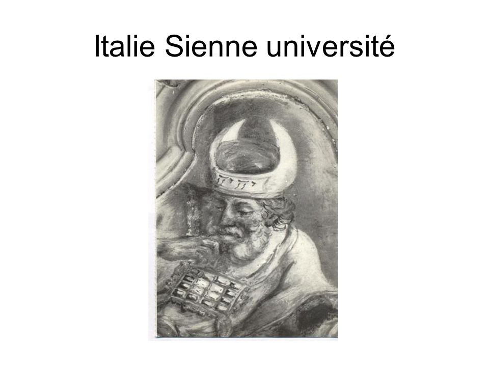 Italie Sienne université