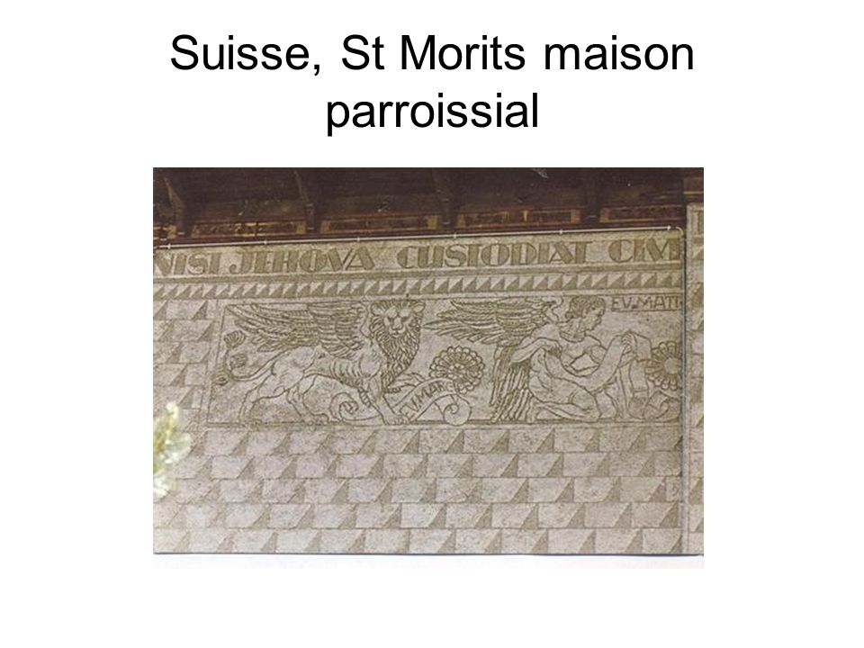 Suisse, St Morits maison parroissial