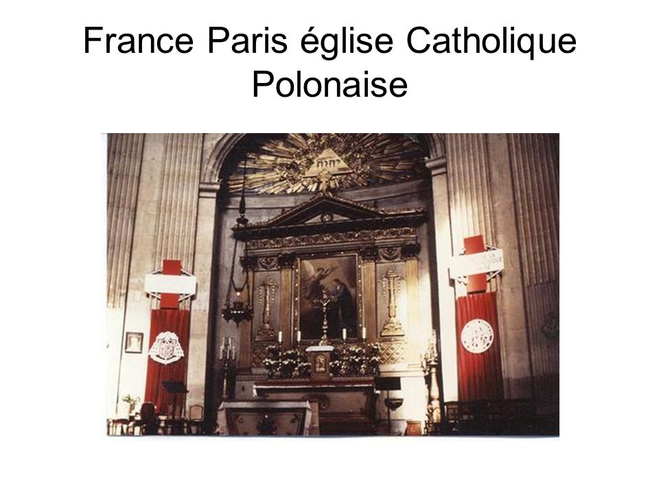 France Paris église Catholique Polonaise