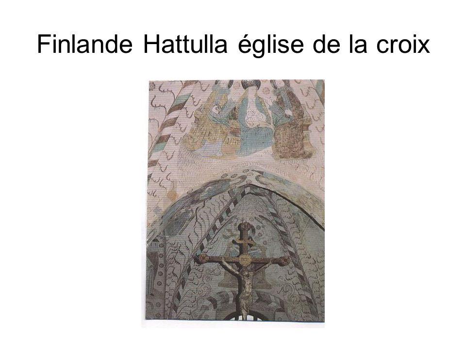 Finlande Hattulla église de la croix