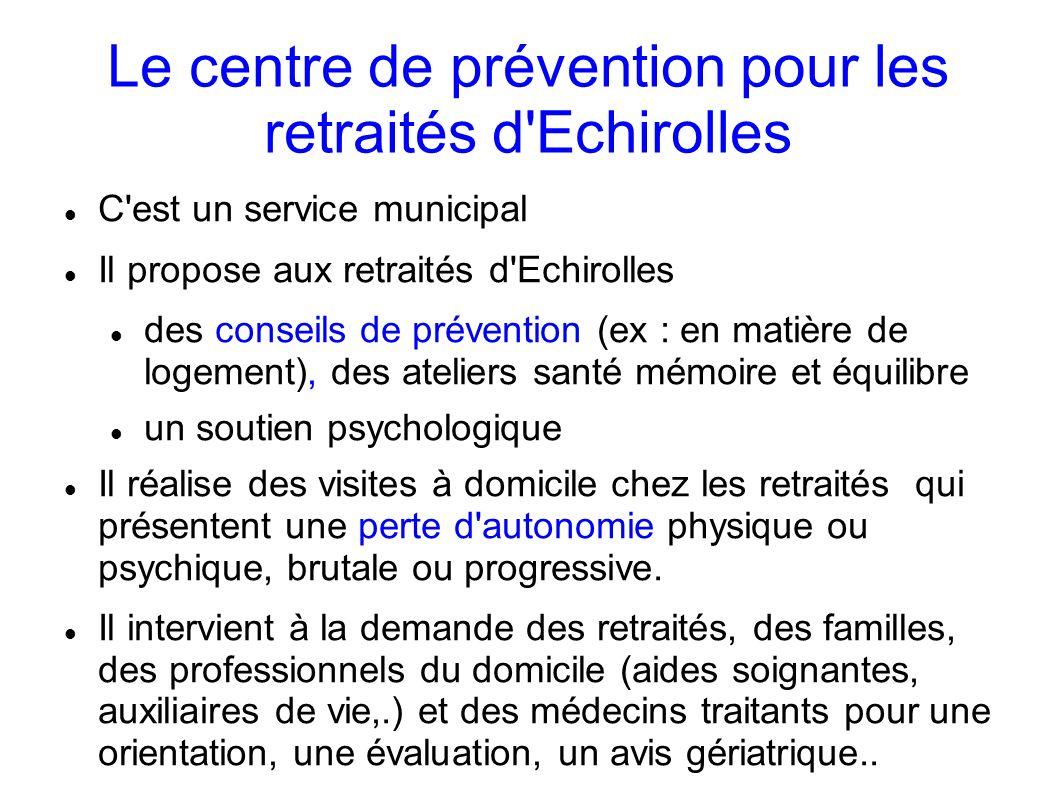 Le centre de prévention pour les retraités d Echirolles