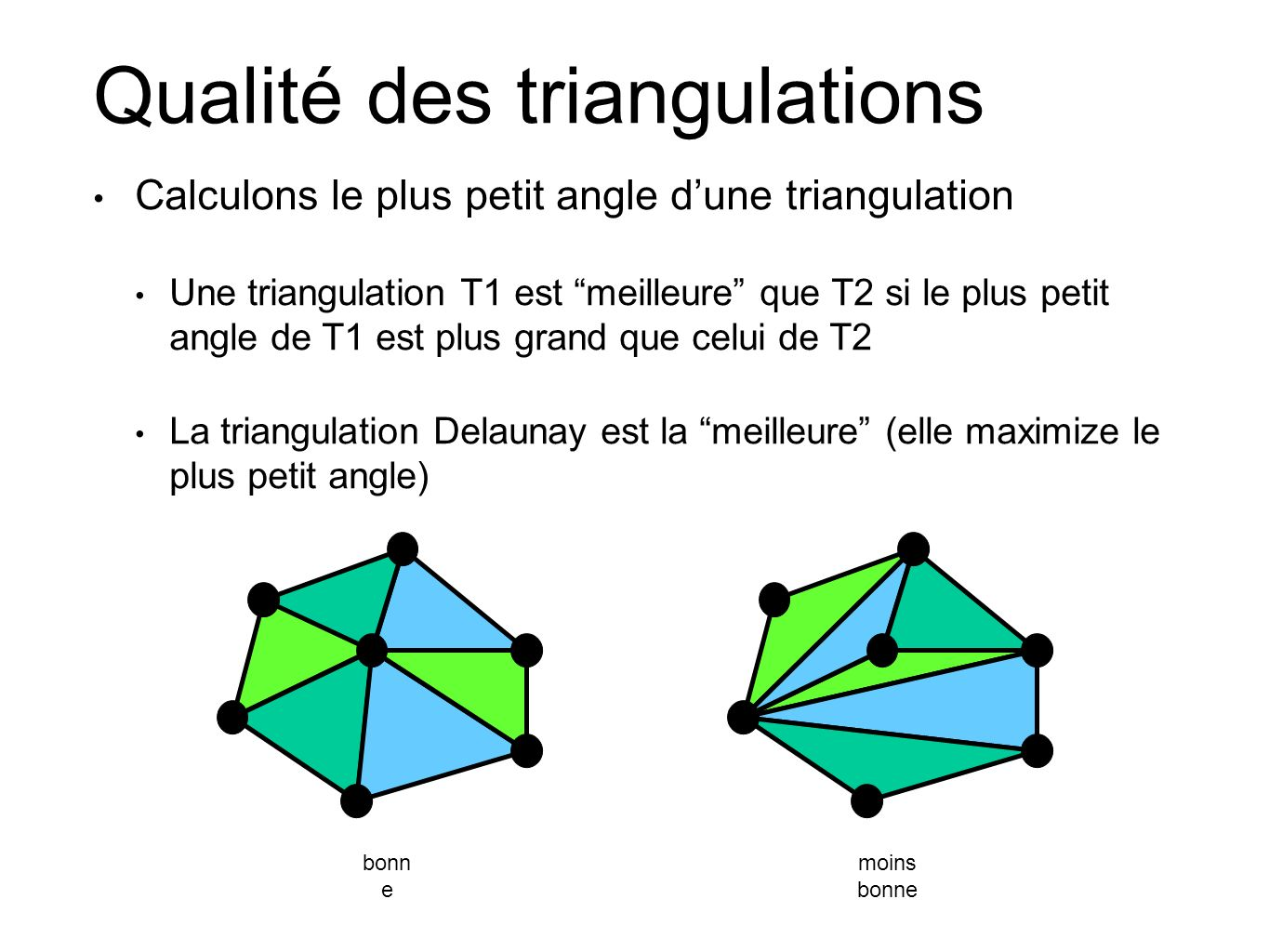 Qualité des triangulations