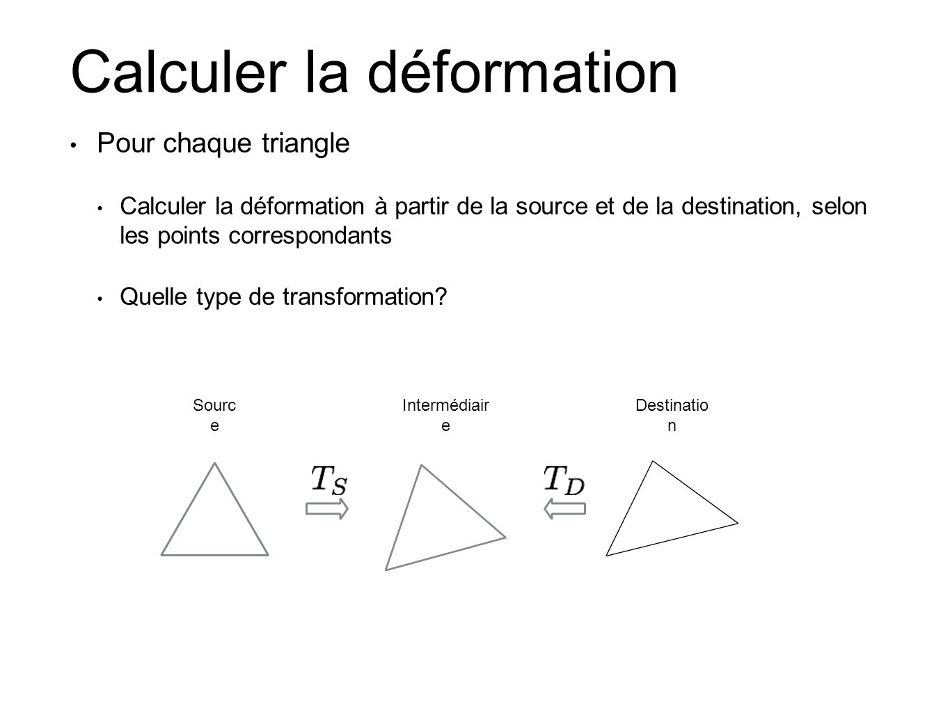 Calculer la déformation