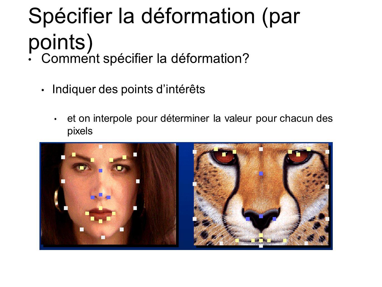 Spécifier la déformation (par points)