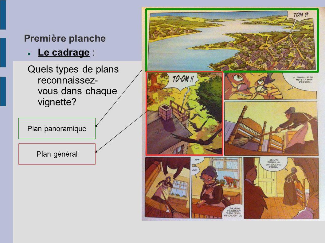 Quels types de plans reconnaissez- vous dans chaque vignette