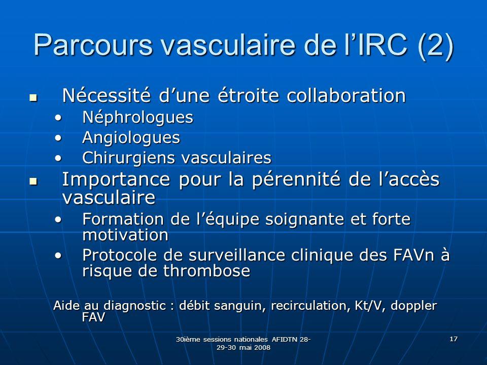 Parcours vasculaire de l'IRC (2)
