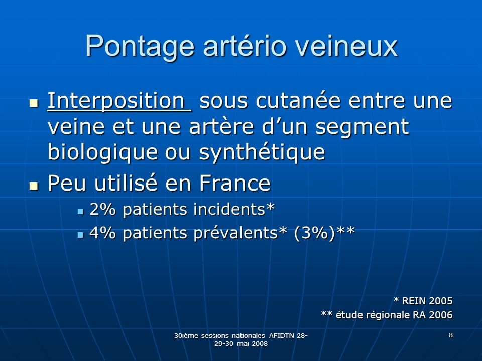 Pontage artério veineux