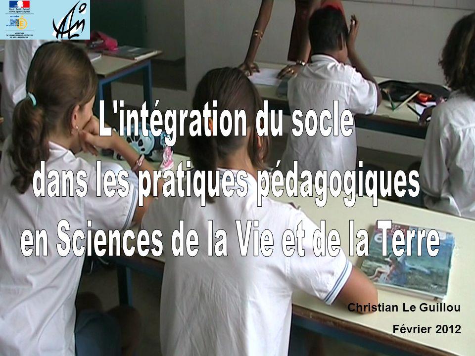 dans les pratiques pédagogiques en Sciences de la Vie et de la Terre