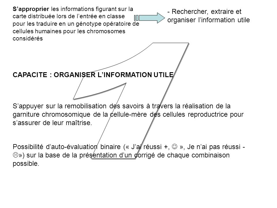 1 Rechercher, extraire et organiser l'information utile
