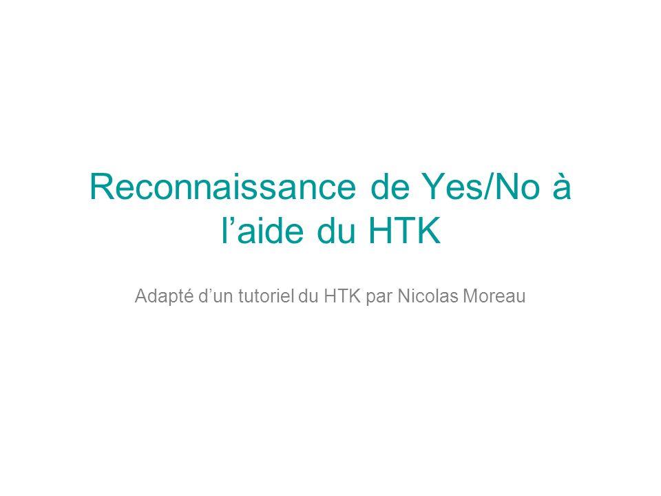 Reconnaissance de Yes/No à l'aide du HTK