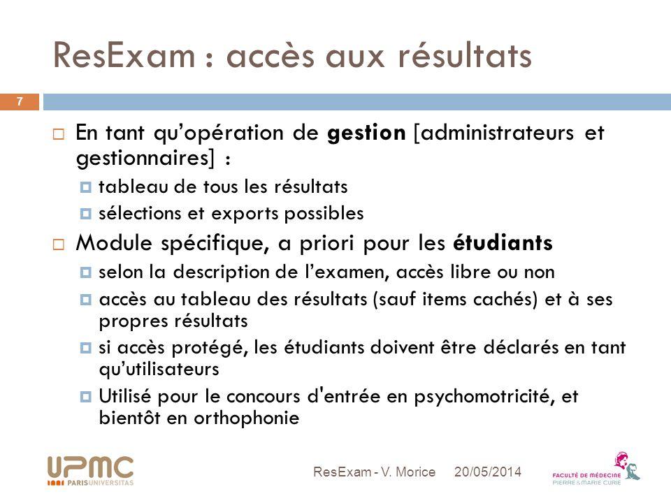 ResExam : accès aux résultats