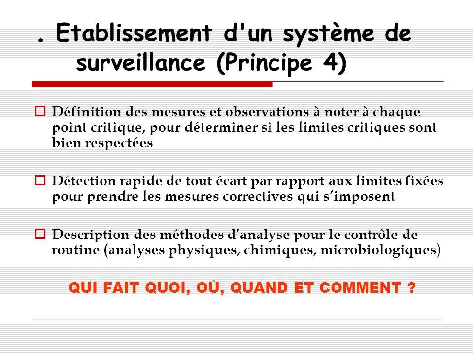 . Etablissement d un système de surveillance (Principe 4)