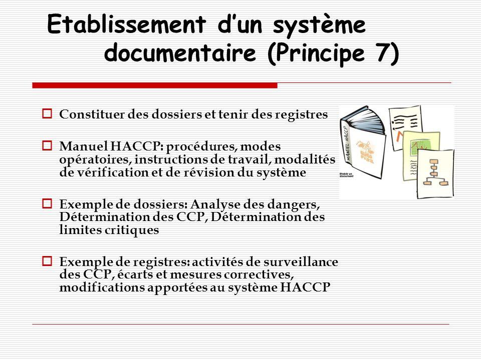 Etablissement d'un système documentaire (Principe 7)