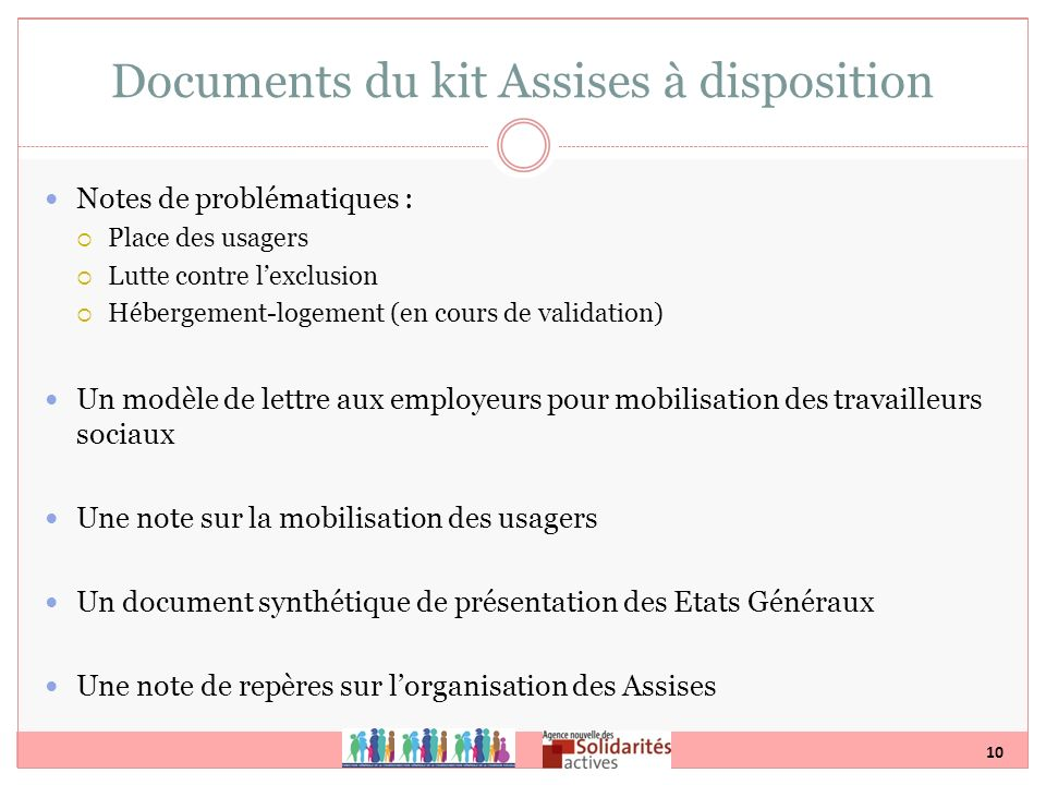 Documents du kit Assises à disposition