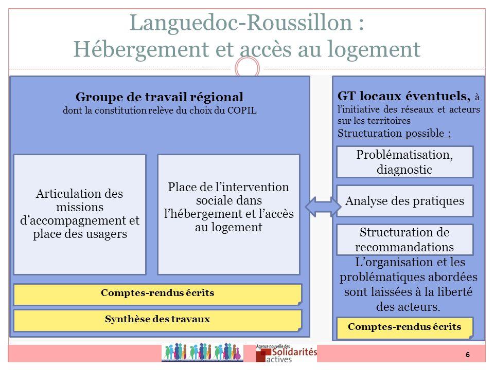 Languedoc-Roussillon : Hébergement et accès au logement