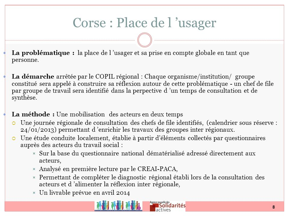 Corse : Place de l 'usager