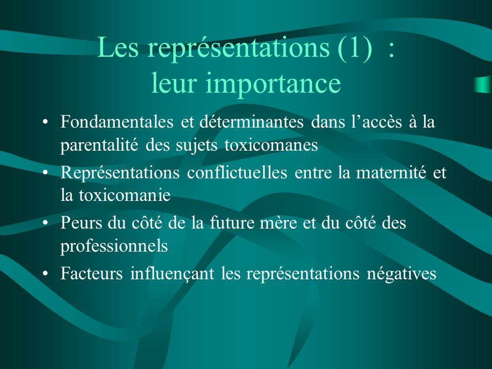 Les représentations (1) : leur importance