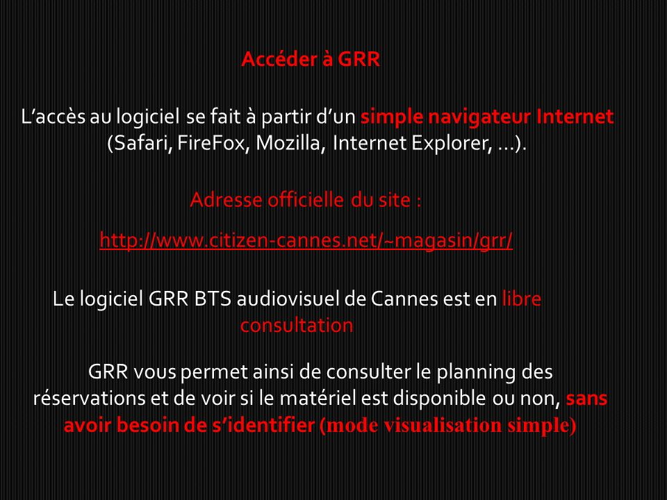 Adresse officielle du site :