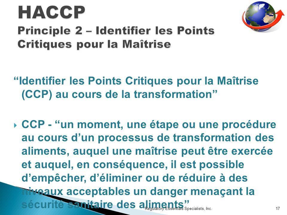 HACCP Principle 2 – Identifier les Points Critiques pour la Maîtrise