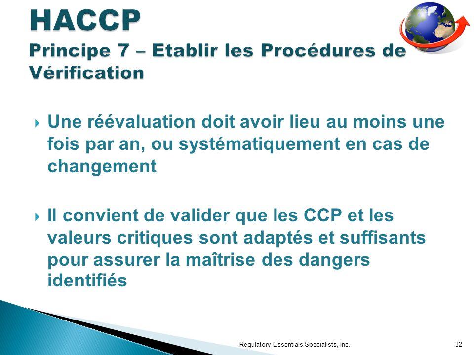 HACCP Principe 7 – Etablir les Procédures de Vérification