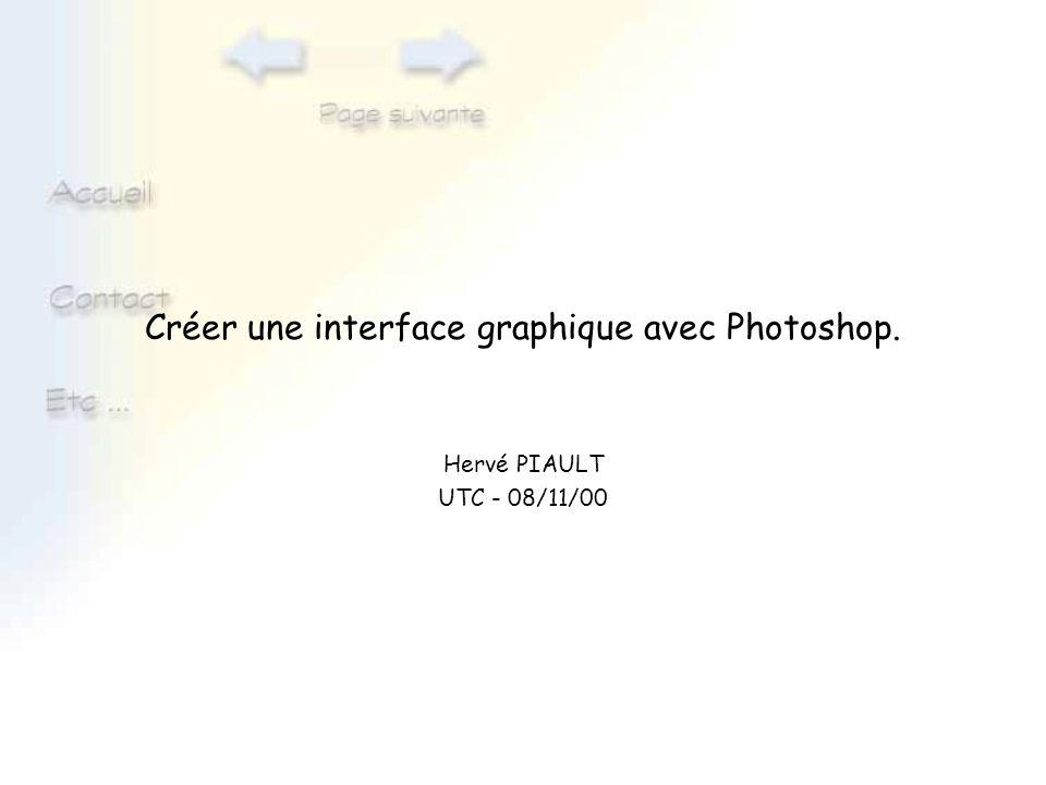 Créer une interface graphique avec Photoshop.
