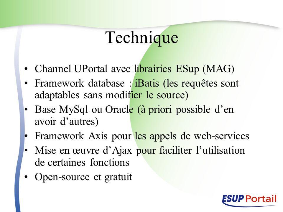 Technique Channel UPortal avec librairies ESup (MAG)