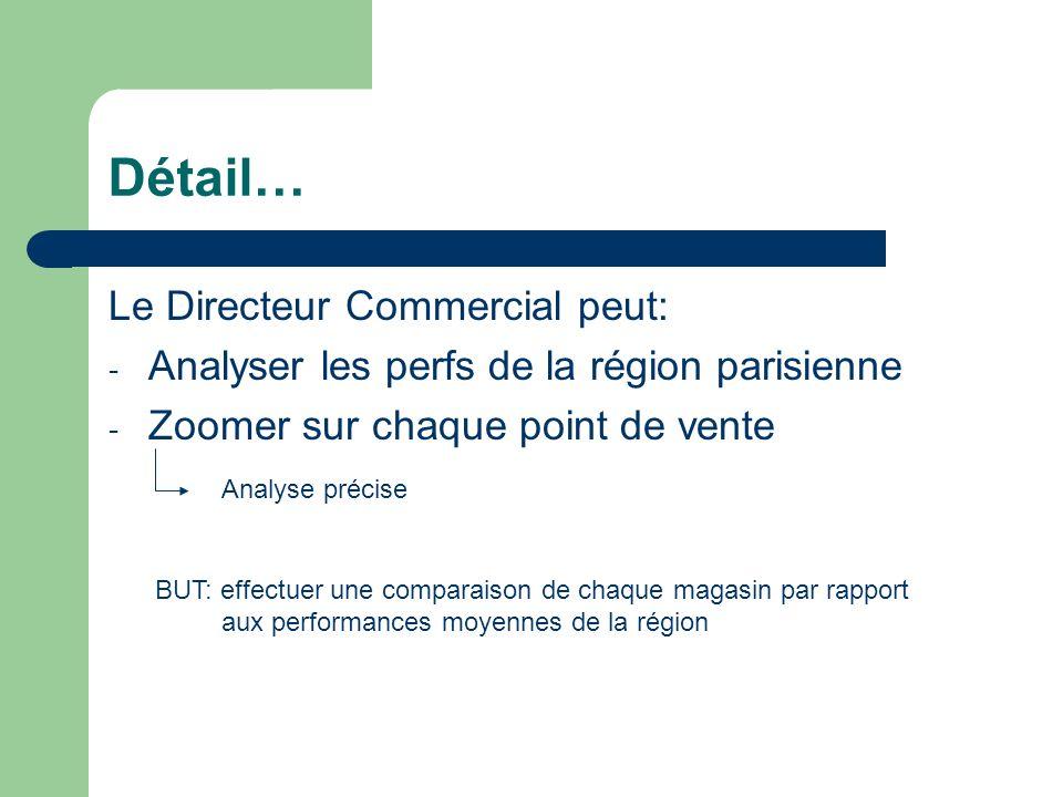 Détail… Le Directeur Commercial peut:
