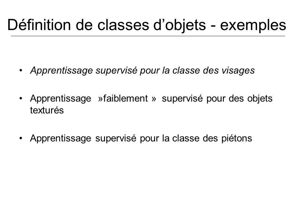 Définition de classes d'objets - exemples