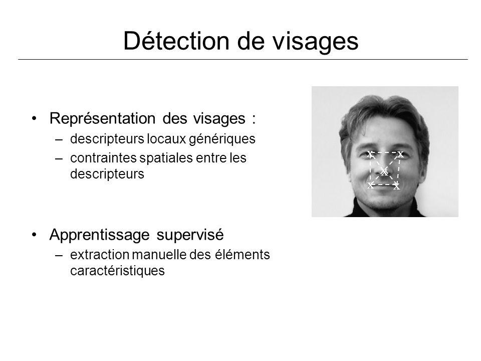 Détection de visages Représentation des visages :