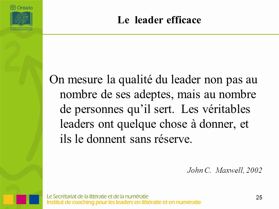 Le leader efficace