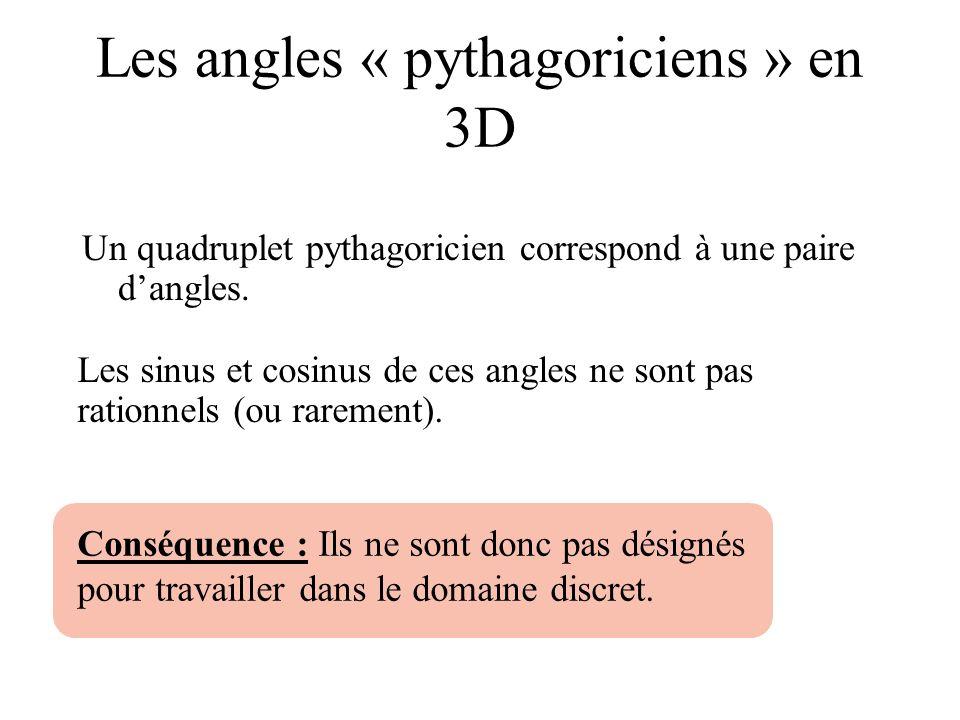 Les angles « pythagoriciens » en 3D