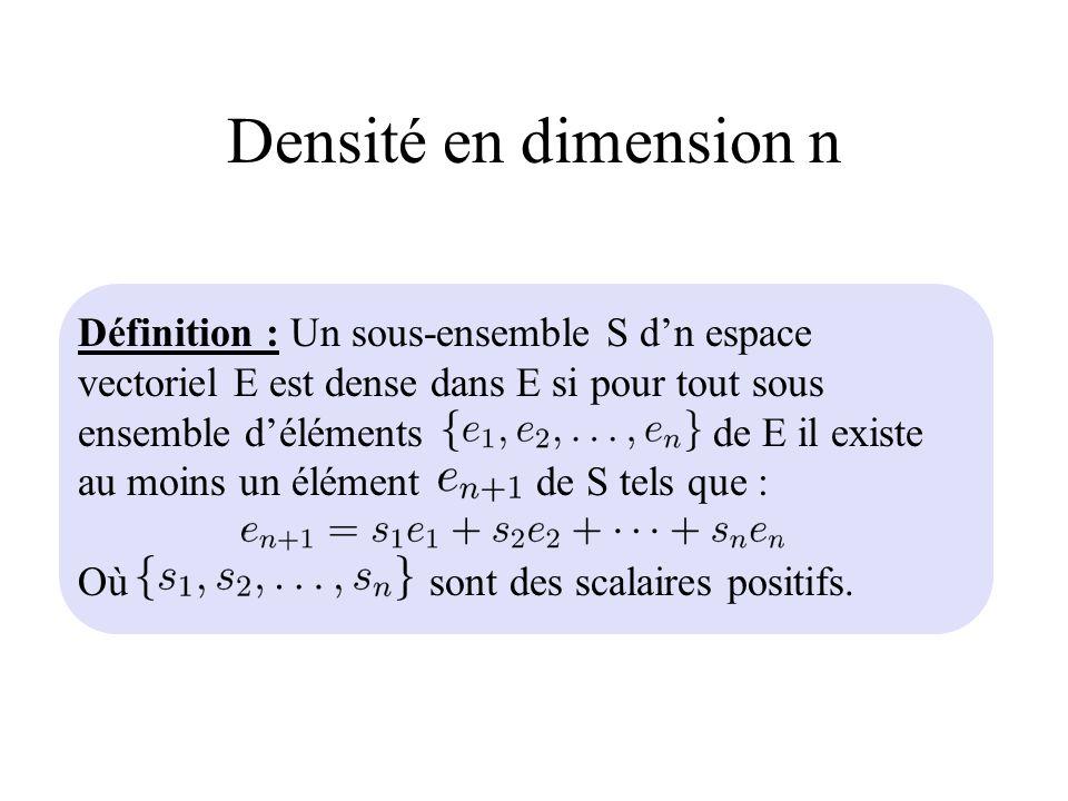 Densité en dimension n