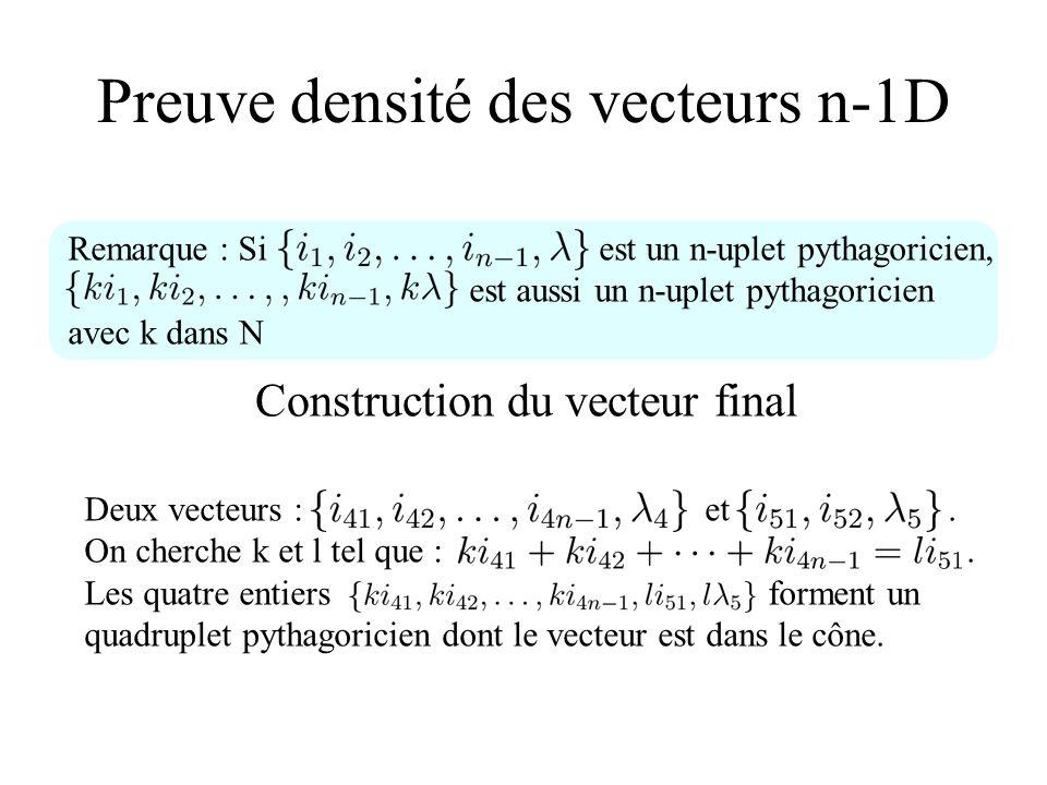 Preuve densité des vecteurs n-1D