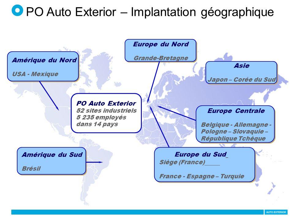 PO Auto Exterior – Implantation géographique